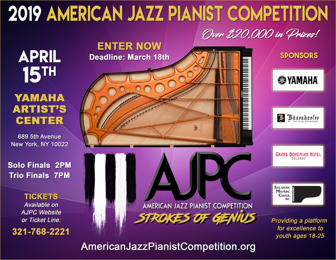AMERICAN JAZZ PIANIST COMPETITION – Strokes of Genius